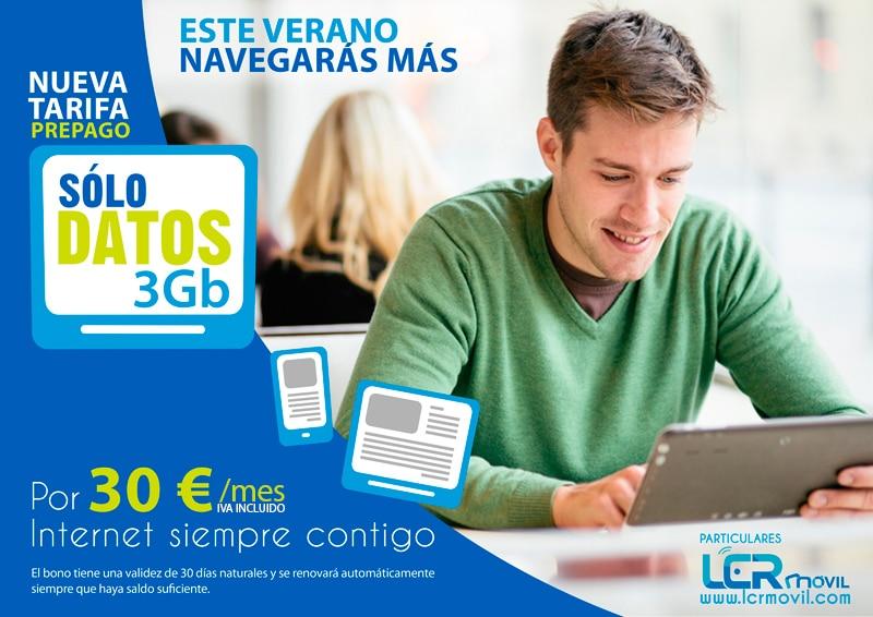Tarifa de Internet móvil Sólo Datos 3Gb