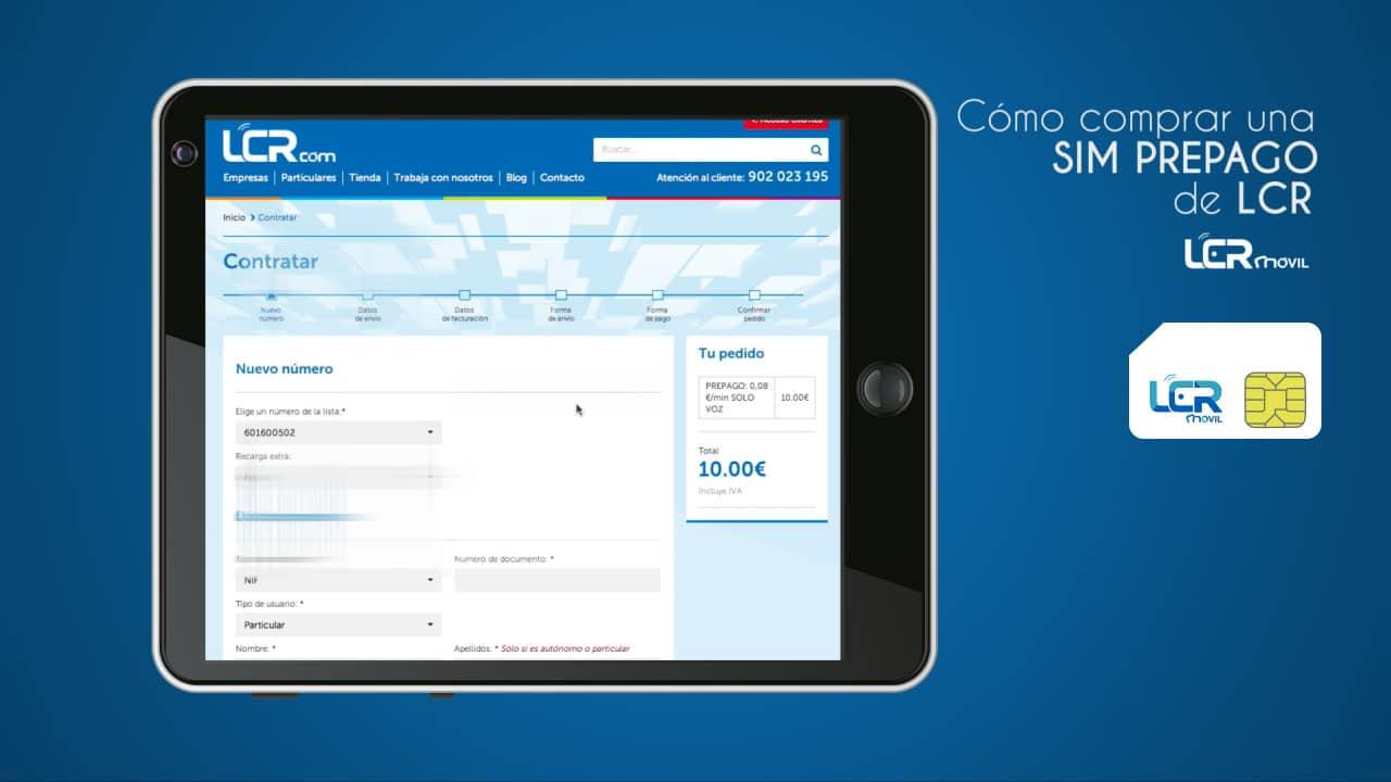 Cómo comprar una SIM prepago en LCR